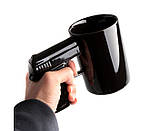 Чашка Пистолет (черная), фото 3