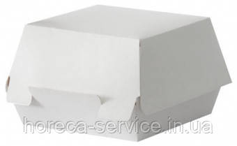 Картонная упаковка для бургера белая 140х140х70 мм. 50 шт.