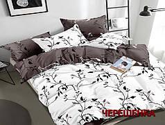 Двуспальный набор постельного белья 180*220 из Сатина №1059AB Черешенка™