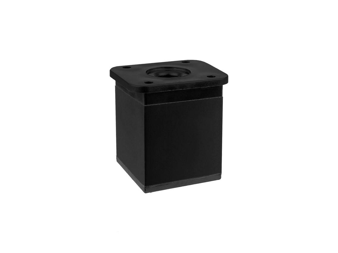 Опора (ніжка) квадратна регульована GIFF NA02 Н=50, 80, 100 чорний