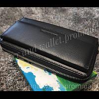 Большой кожаный мужской кошелек клатч на молнии и магнитах Marco Coverna