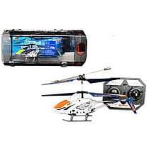 Вертолет аккум р/у 33008S 4 цвета, гироскоп, в в пластик.боксе 28*10*14 см, р-р игрушки – 19*3.5*9.5