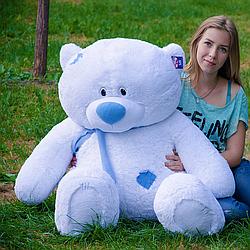 Плюшевые медведи: Плюшевый медвежонок Тедди 1,4 метра (140 см), Белый