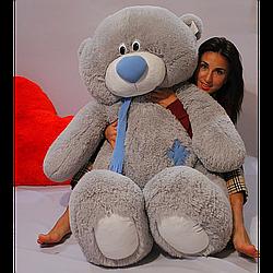 Плюшевые медведи: Плюшевый медвежонок Тедди 1,4 метра (140 см), Серый
