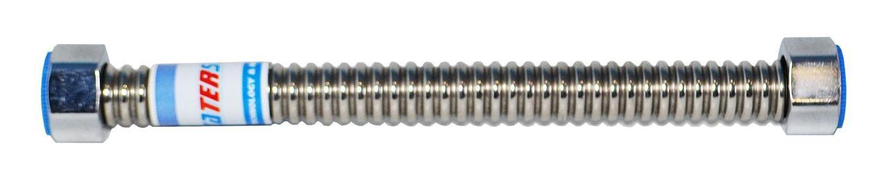 Шланг гофрований Waterstal з нержавіючої сталі для підведення води 1/2 гайка/гайка 500 мм