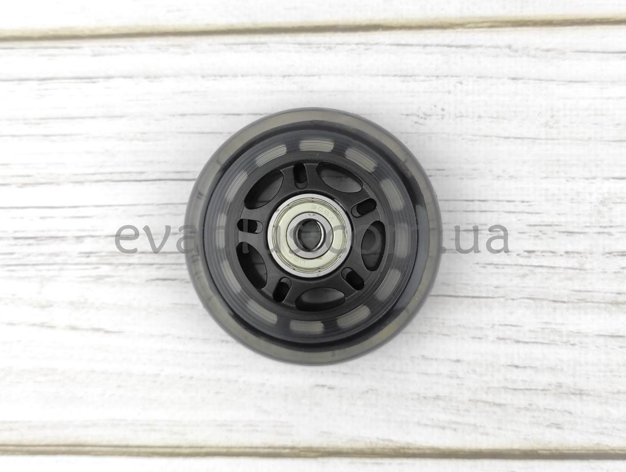 Колесо 70 мм полиуретановое (черное прозрачное)