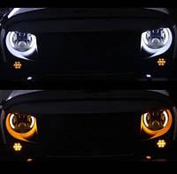 Штатная фара, оптика Нива ВАЗ 2121,ВАЗ 2101, ГАЗ 24, УАЗ. (цена за 1 фару) LED фара 7 дюймов. 120 Ватт.