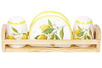Набор для специй на подставке Сочные лимоны Bona Di DM-312-Y