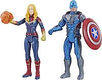 "Фигурка Капитан Америка и Капитан Марвел 15см ""Мстители"" E5084 (Captain America & Captain Marvel), фото 1"