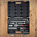 """Автомобильный набор инструментов для авто кейсы. Набор насадок торцевых и бит 1/4"""", 1/2"""" 72шт CrV (6003112), фото 2"""