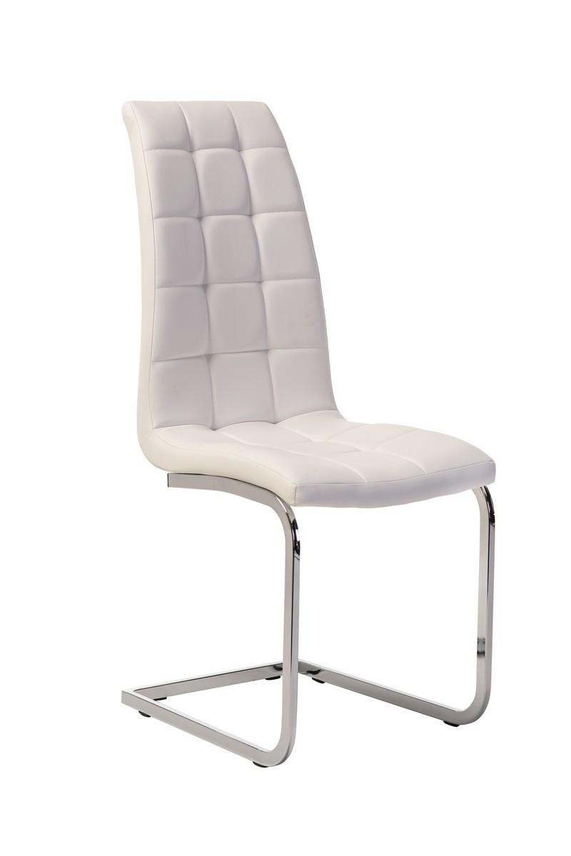 Білий, стильний, модний, сучасний обідній стілець, стілець у вітальню і кафе