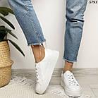 Женские белые кроссовки, натуральная кожа, фото 4