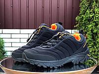 Мужские термо кроссовки Merrell waterproof,черные с оранжевым