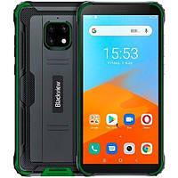 Захищений Смартфон з великим дисплеєм і хорошою потужною батареєю Blackview BV4900 Pro green 4/64 гб Octa-core