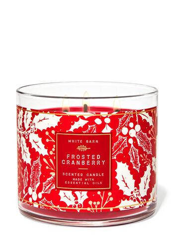Свеча ароматизированная Bath and Body Works Frosted Cranberry Scented Candle 411 г, фото 2