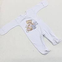 Человечек для новорожденных Друзья белый (56-62)р (Гарден)Garden Baby Украина 10838-02