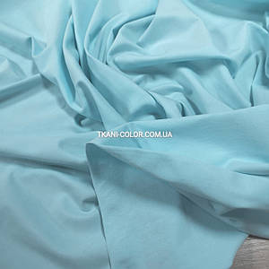 Тканина кулір стрейч блакитний тіффані