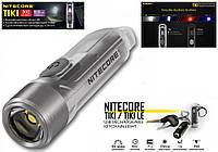 Наключный брелок фонарик Nitecore TIKI Прозрачный 300LM (130mAh, USB, Osram P8+HI CRI White+UV led, 7 режимов)