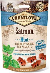 Лакомство для котов Carnilove Cat Crunchy Snack Salmon with Mint (лосось/мята) 50 г