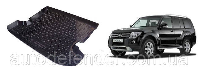 Коврик в багажник для Mitsubishi Pajero Wagon IV 4 2006-2021, резино-пластиковый (Lada Locker)