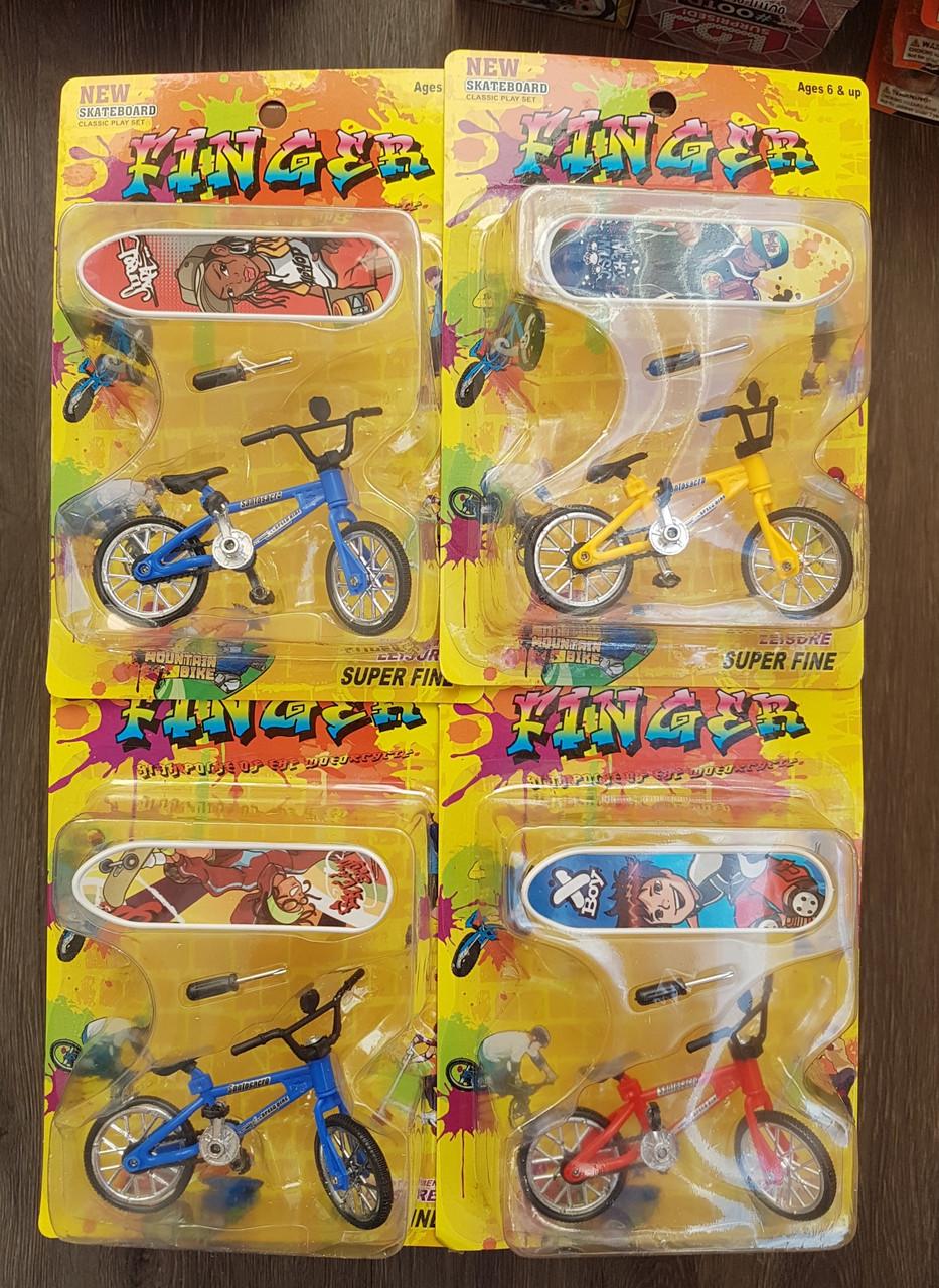 Фингерборд 2545( Пальчиковый велосипед+ скейт)