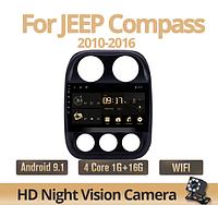 Штатная магнитола Экран+штатная камера+GPS+рамка+Wifi для Jeep Compass Patriot новая