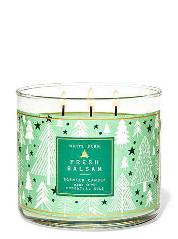 Свеча ароматизированная Bath and Body Works Fresh Balsam Scented Candle 411 г, фото 2