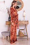 Женский домашний костюм с брюками терракотовый Лючи, фото 2