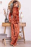Женский домашний костюм с брюками терракотовый Лючи, фото 3