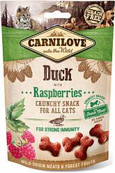 Лакомство для котов Carnilove Cat Crunchy Snack Duck with Raspberries (утка/малина) 50 г