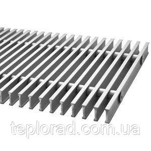 Решітка дюралюмінієва для внутрипольного конвектори Polvax шириною 290 мм 1250