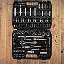 """Автомобильный набор инструментов для авто кейсы. Набор насадок торцевых и бит 1/4"""", 1/2"""" 110шт CrV (6003771), фото 3"""