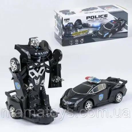 Машина - трансформер Полиция 8997 Свет, Звук, от батареек