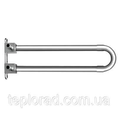 Отвод KAN-Therm Push спаренный с трубкой Cu d15 с кронштейном - элемент никелированный 18х2.5 L=300 мм
