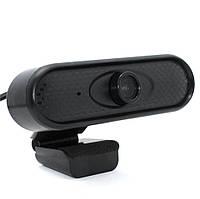 Веб-камера для компьютера с микрофоном WDL10 Full HD USB Webcam проводная с универсальным креплением, фото 1
