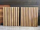Декоративні дерев'яні рейки. Дерев'яні рейкові панелі. Рейкові перегородки., фото 8