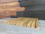 Декоративні дерев'яні рейки. Дерев'яні рейкові панелі. Рейкові перегородки., фото 6