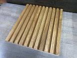 Декоративні дерев'яні рейки. Дерев'яні рейкові панелі. Рейкові перегородки., фото 4