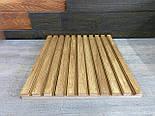 Декоративные деревянные рейки. Деревянные реечные панели. Реечные перегородки., фото 5