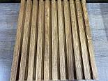 Декоративные деревянные рейки. Деревянные реечные панели. Реечные перегородки., фото 7