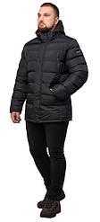 Куртка большого размера зимняя мужская цвет графит модель 12952