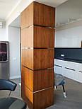 Декоративні дерев'яні рейки. Дерев'яні рейкові панелі. Рейкові перегородки., фото 9