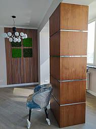Декоративні дерев'яні рейки. Дерев'яні рейкові панелі. Рейкові перегородки.