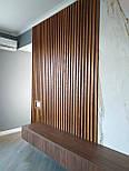 Декоративні дерев'яні рейки. Дерев'яні рейкові панелі. Рейкові перегородки., фото 5