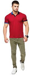 Оригінальна футболка поло червона чоловіча модель 6990