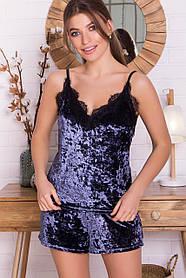 Шикарный пижамный комплект из мраморного велюра Размеры S M L XL