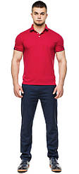 Футболка поло чоловіча дизайнерська червоного кольору модель 6618