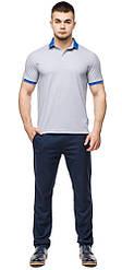 Високоякісна футболка поло чоловіча сірого кольору модель 6618