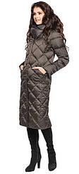Женская куртка зимняя модная цвет капучино модель 31031