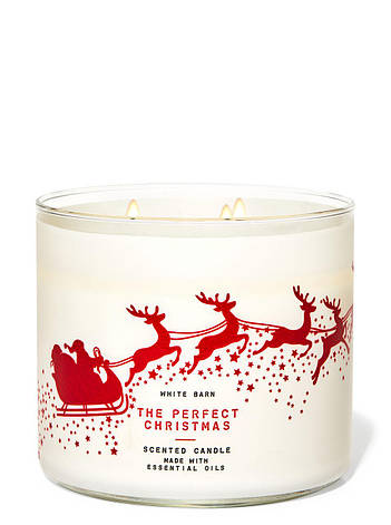 Свеча ароматизированная Bath and Body Works The Perfect Christmas Scented Candle 411 г, фото 2